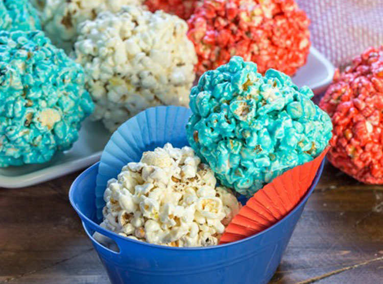 Red, White and Blue Popcorn Balls